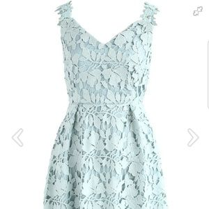 Mint Floral Lace Dress, Small, new & never worn